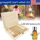 68 Bottle Essential Oil Wooden Storage Box Case Container Ar