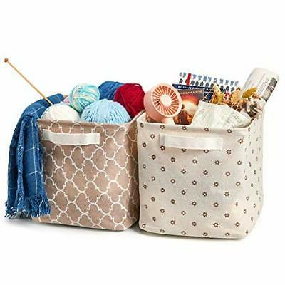 6Pcs Baskets,Collapsible Organizer withHandles