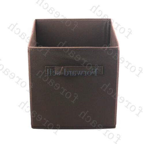 6Pcs Fabric Container Collapsible Storage Cube Shelf USA