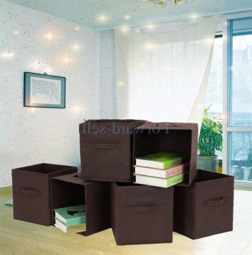 6pcs fabric basket bin container collapsible home