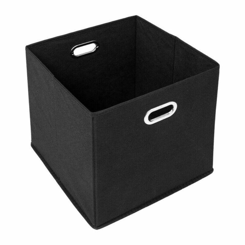 6PCS Storage Bins Box Handle 6 Cubes hold 15-20lbs US