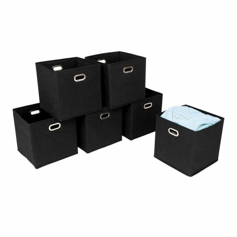 6pcs foldable fabric storage bins box set