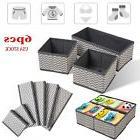 6pcs Folding Storage Box Household Organizer Fabric Cube Bin