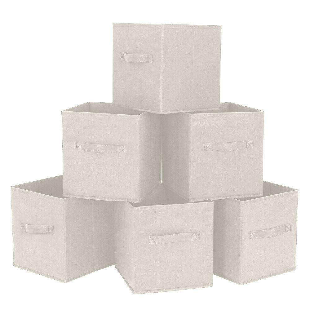 6X Handle Cloth Cube Storage Shelf