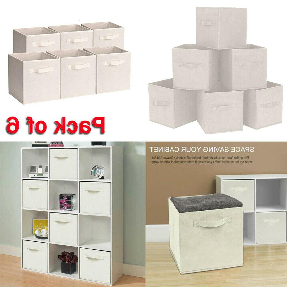 6x dual handle foldable cloth storage cube