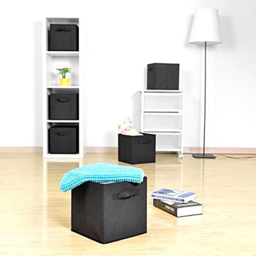 6X/Pack Organizer Cube Shelf Basket Drawer Unit