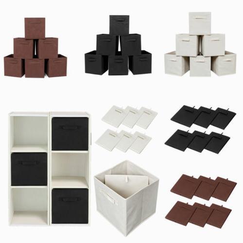 6x pack storage bins organizer cube boxes
