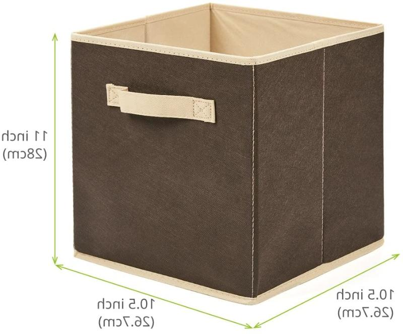 6x Storage Cube Bins Fabric Container Organizer Foldable !