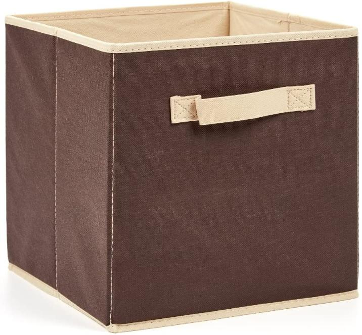 6x Box Cube Bins Fabric Basket Container !