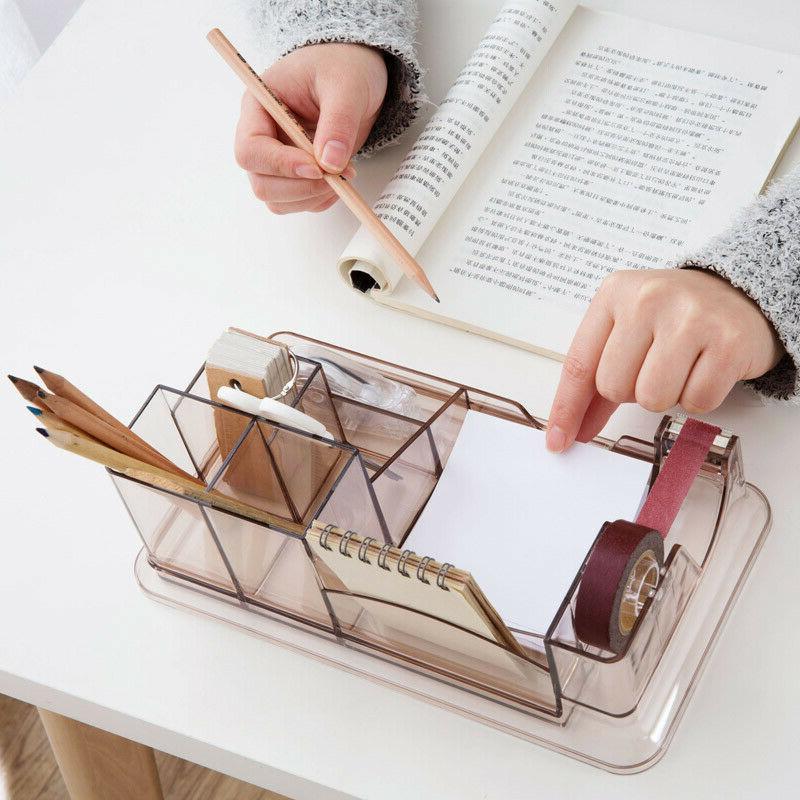 7 Compartment Pen Holder Supplies Desktop