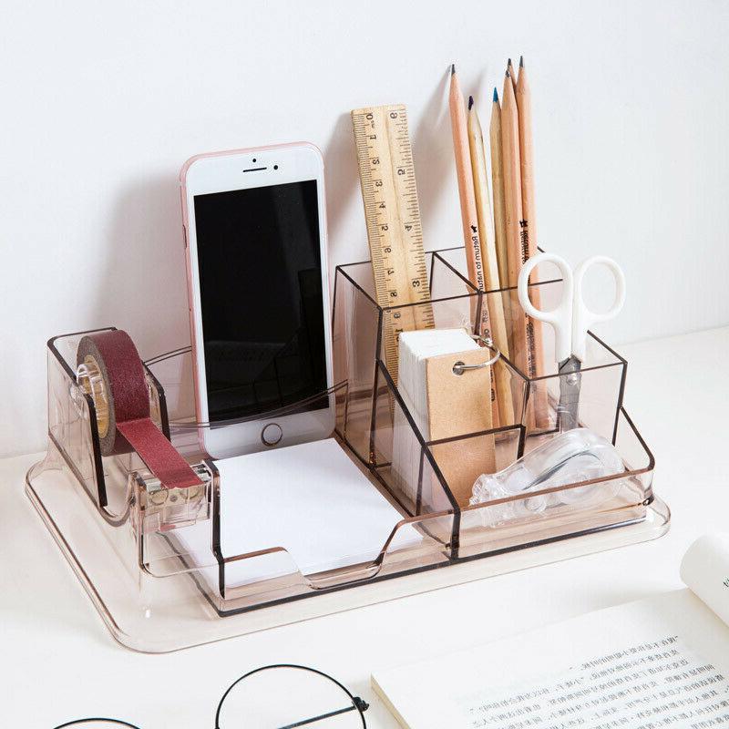 7 compartment pen pencil holder box office