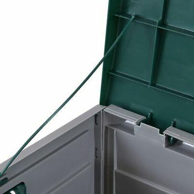 "79 44"" Deck Storage Box Outdoor Patio Garage Tool Bench Container"