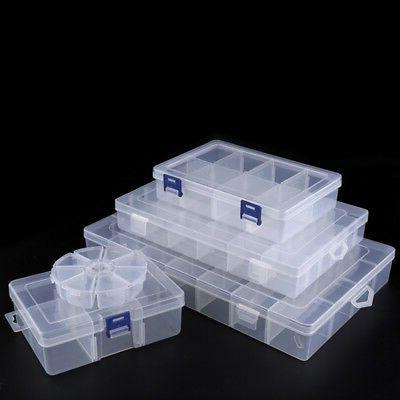 28 slots clear jewelry adjustable box case