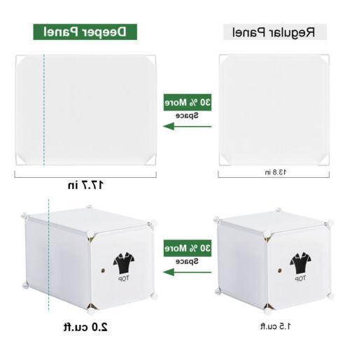 LANGRIA Modular Shelving Plastic Closet
