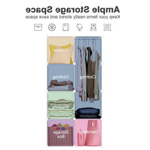 LANGRIA Cube Organizer Modular System Plastic Closet Wardrobe