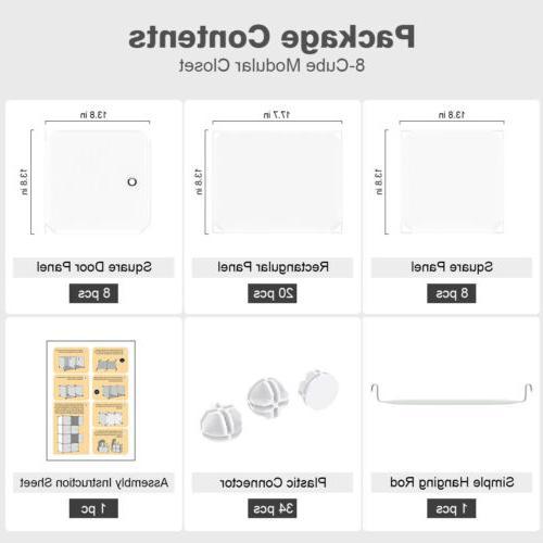 LANGRIA Modular Storage Shelving Plastic Closet Wardrobe
