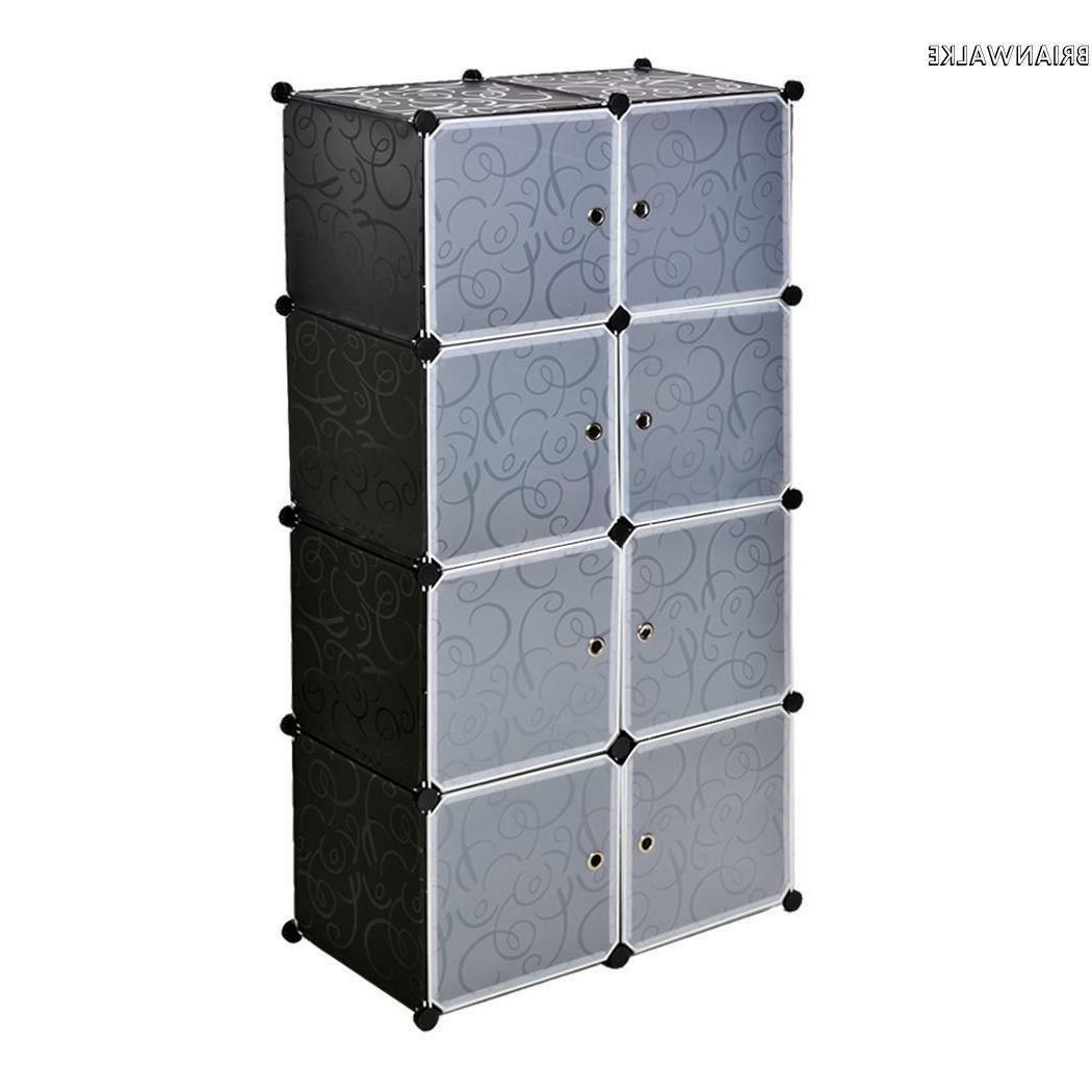8 Slot Organizer Storage Bathroom Furniture Dresser US