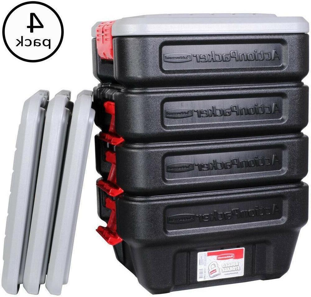 Rubbermaid 8-Gal Storage Tote Lockable Stackable