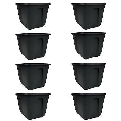 8 Storage Container Plastic Box Gallon Stackable Lid