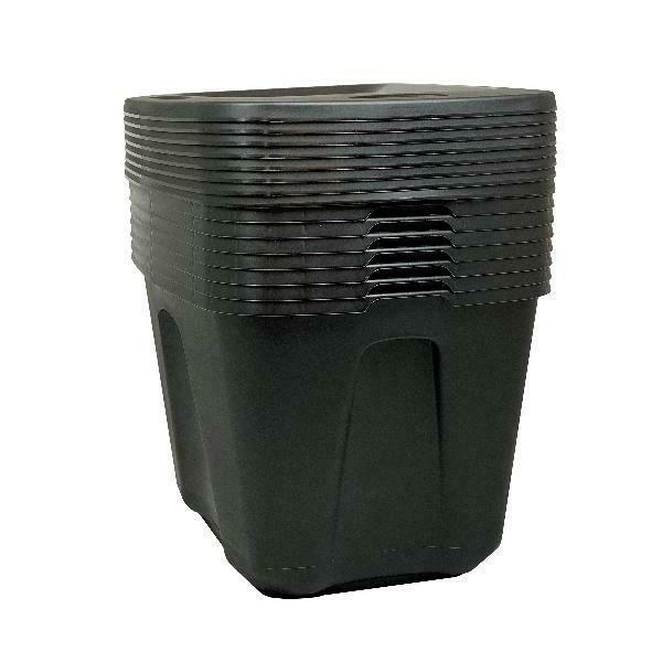 18 Gallon Stackable Bin Container Lid Black