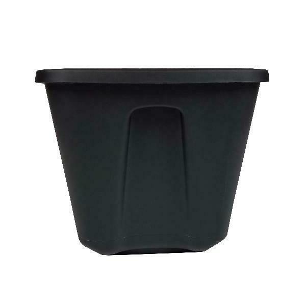 8 18 Bin Plastic Black