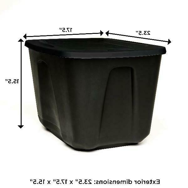 8 Tote Box Bin Container Black NEW