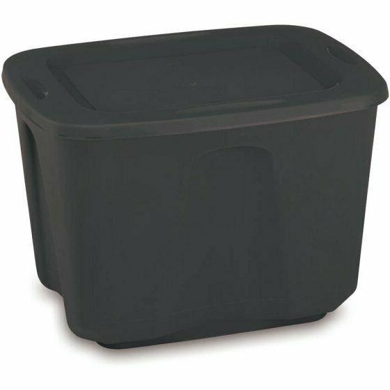 8 18 Bin Plastic Black NEW