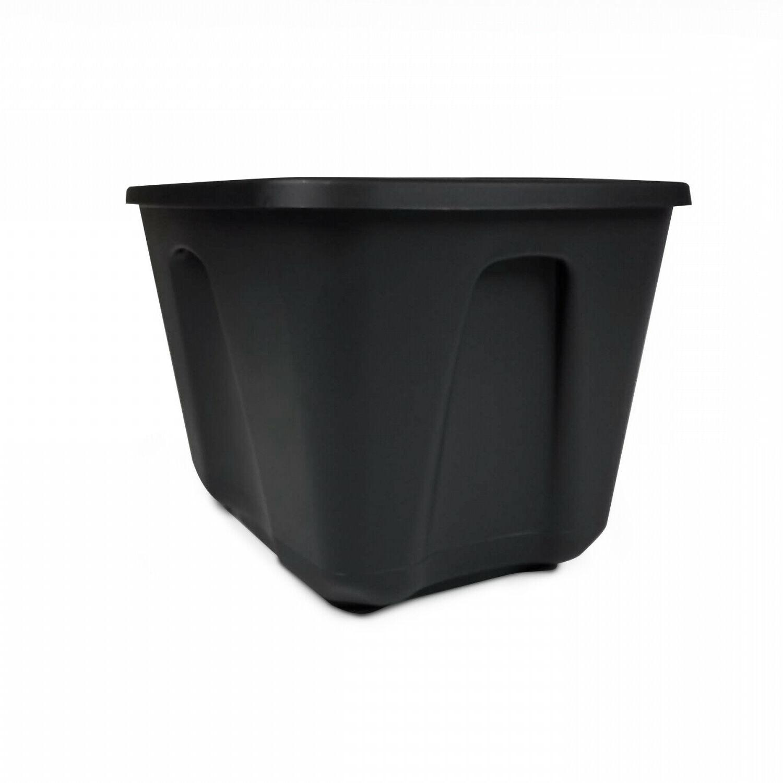 8 Large 18 Bin Container Plastic Black