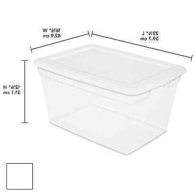 8 Box Clear Plastic Qt
