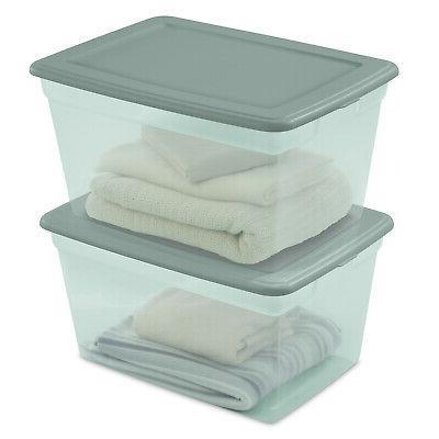 8 Pack Storage Box Clear Qt