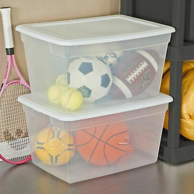 8 pack storage bins box clear organizer