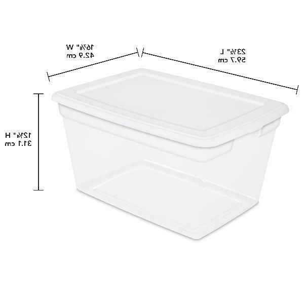 8 Storage Bin Clear Stackable 58