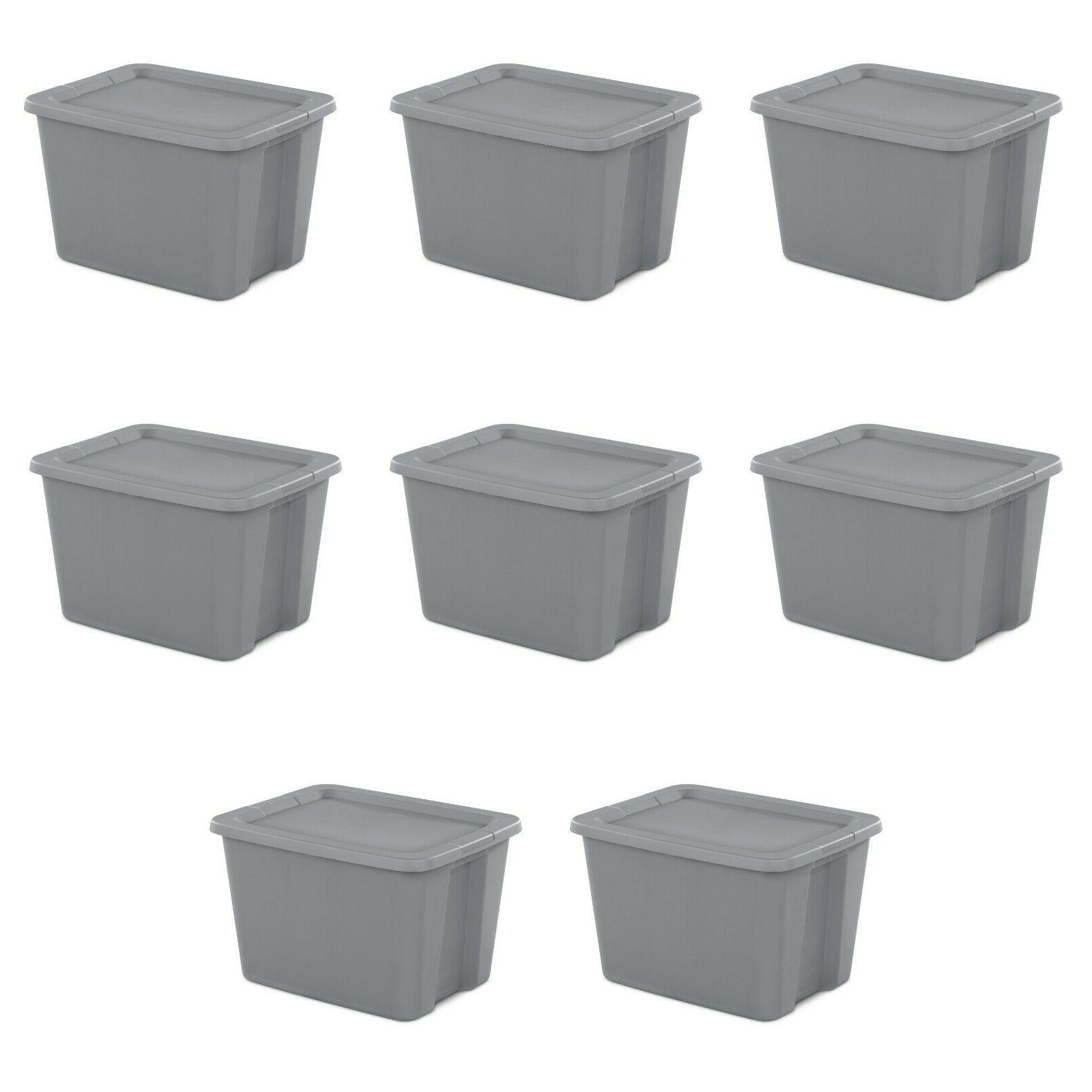 8 pk plastic storage container box set