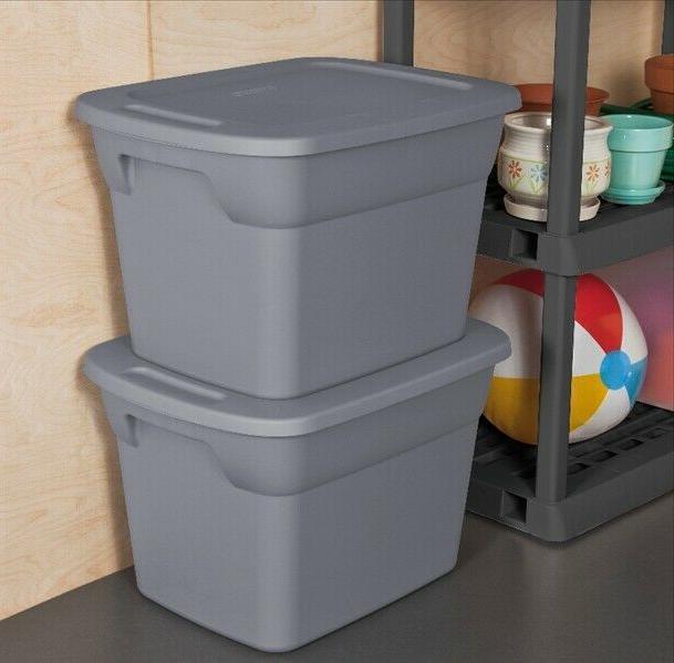 8 Box Sterilite 18-Gallon Stackable Bin