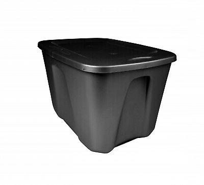 8 Large Tote Box 18 Gallon Stackable Storage Bin Container P