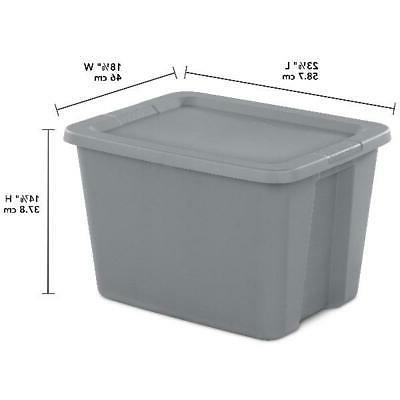 18 Gallon Box Case 8 Pack Bin Container Stackable