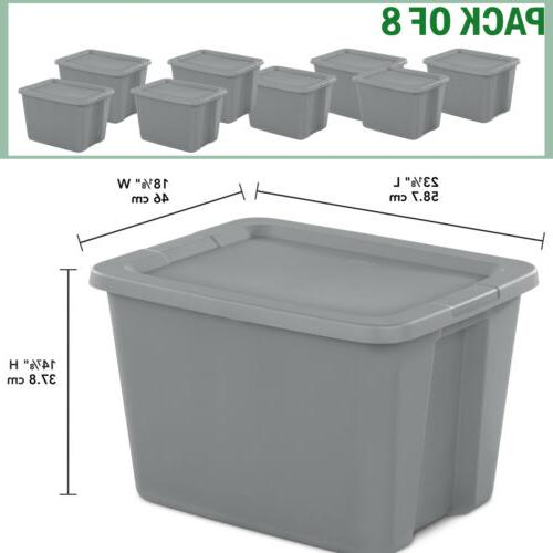 8 plastic storage containers stackable