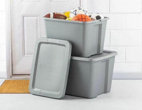 8 Tote With Lid Stackable