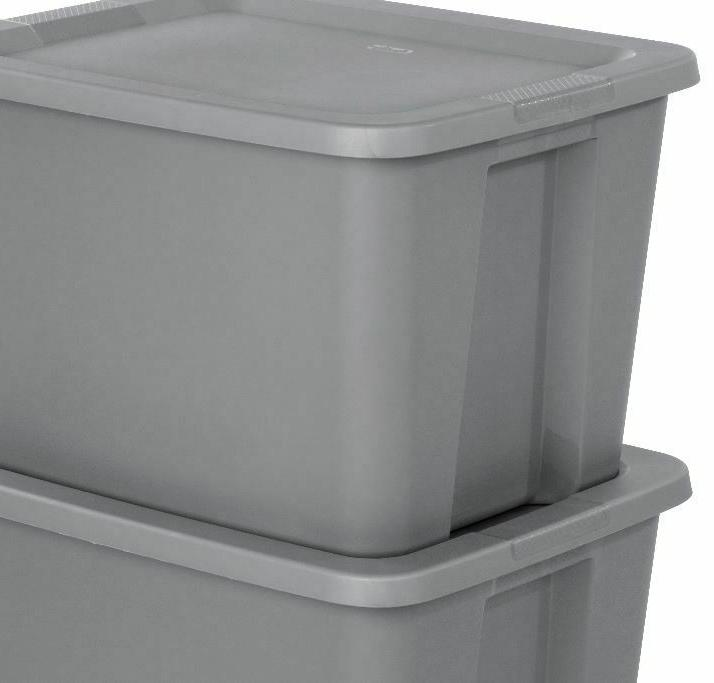8 PLASTIC Tote Box Stackable Home