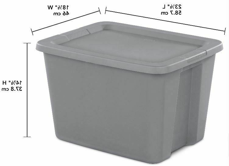 8 STORAGE CONTAINERS Tote Box Stackable