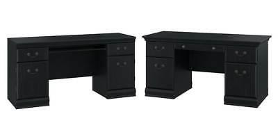 88 in executive desk in antique black