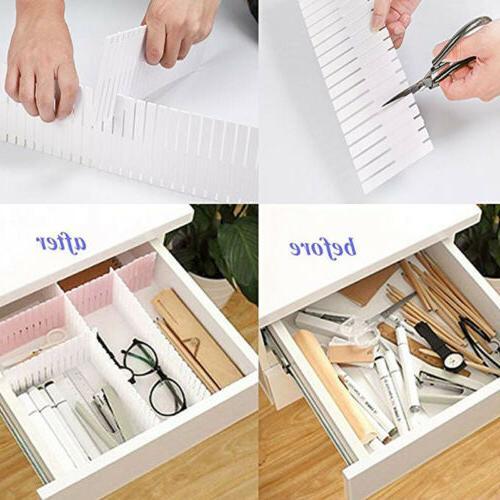 8Pcs Drawer Organizer Home Kitchen Board Makeup Box