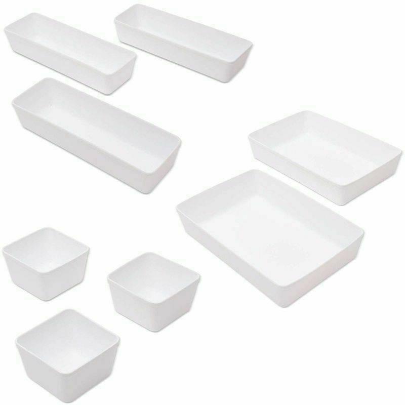 8Pcs Box Organization Tray Trays Home Storage Boxes