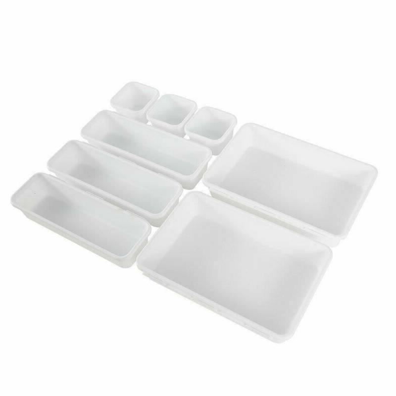 8Pcs Desk Box Drawer Organization Tray Organizer Box Trays Home