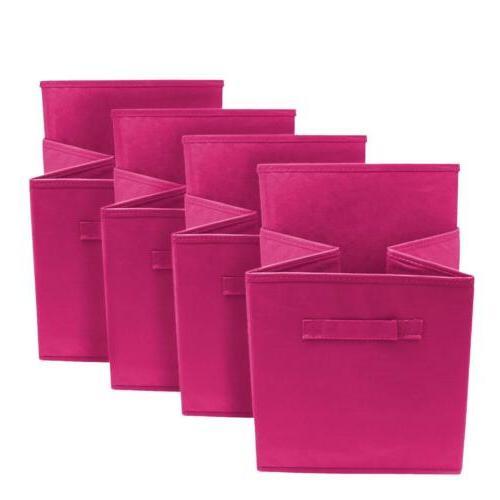 8PK Foldable Utility Boxes Cloth Basket