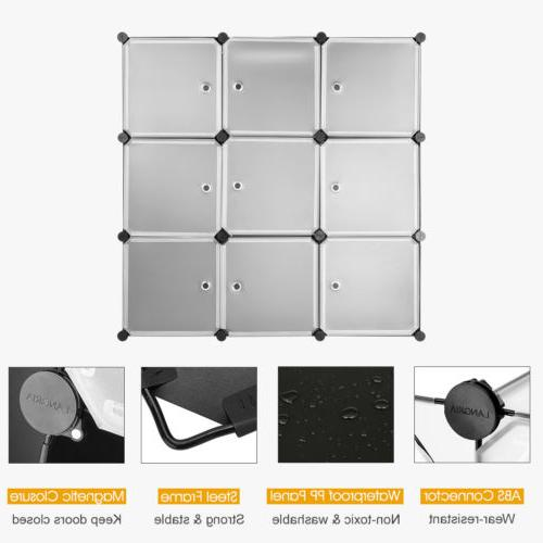 9-Cube System Wardrobe Rack for Toy