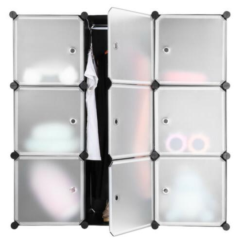 9-Cube Storage Organizer System Closet for Shoes Toy