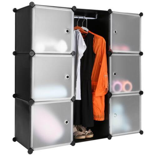 9 cube storage organizer shelving system closet