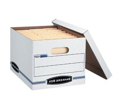 Bankers Box Storage - White/Blue - 12/Carton