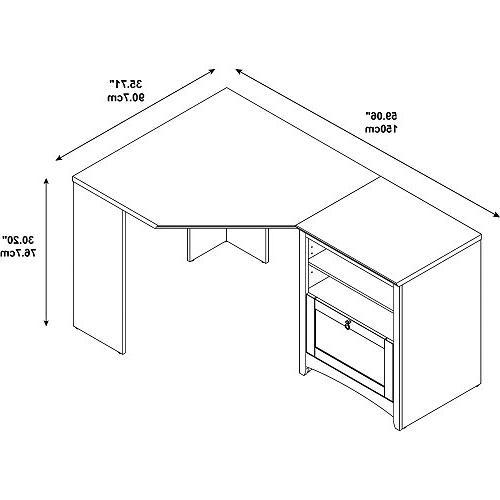 Bush Buena Vista 60W Desk with Storage in Cherry